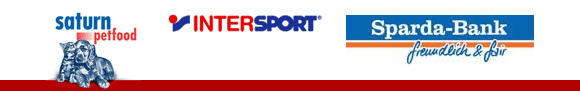 Sponsoren: Saturn Petfood - Intersport - Sparda Bank